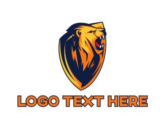 Fist - Lion Shield Gaming logo design