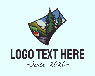 Provincial - Outdoor Axe Tree logo design