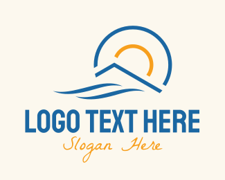 Villas - Summer Beach House logo design