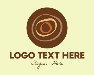 Woodsman - Brown Hardwood Log logo design