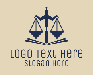 Professional Service - Legal Scales of Justice logo design
