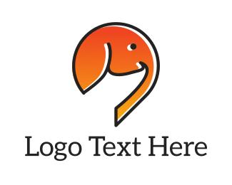 Indian Restaurant - Orange Elephant logo design