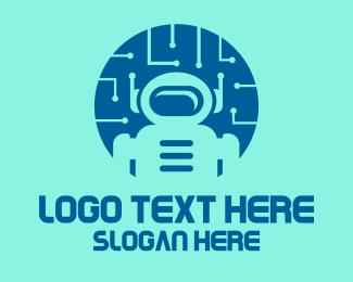 Technology - Spaceman Robot Technology logo design