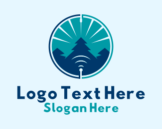 Tree - Forest Signal  logo design