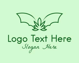 Medical Marijuana - Green Bat Marijuana logo design