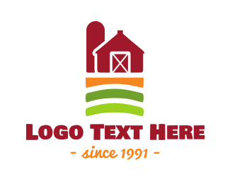 Chicken Farm - Farm Barn logo design