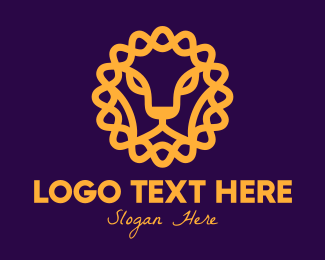 Finance - Elegant Lion CIrcle logo design