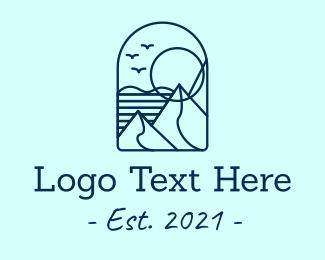 Mountain - Minimal Mountain logo design