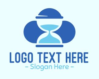 Hourglass - Blue Hourglass logo design