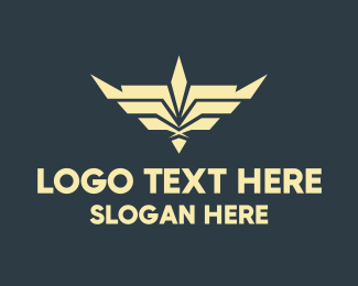 Airline - Silver Wings Badge logo design
