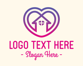 Apartment - Love Heart Care Home logo design