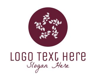 Therapeutical - Sakura White Leaves logo design