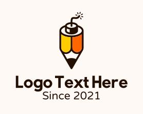 Advertising - Creative Pencil Bomb logo design