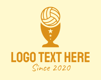 Sports News - Volleyball Trophy Cup  logo design
