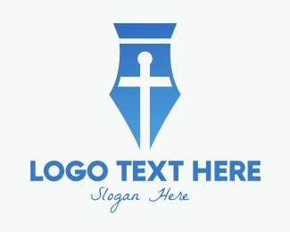 Congregation - Cross Pen logo design