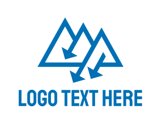 Blue Triangle - Blue Triangle Arrow logo design