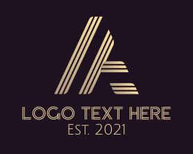 Company - Golden Athletic Letter A logo design