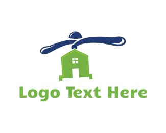 Fly - Flying House logo design