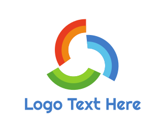 Arc - Rainbow Pattern Trio logo design
