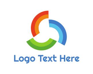 Watercolor - Rainbow Pattern Trio logo design