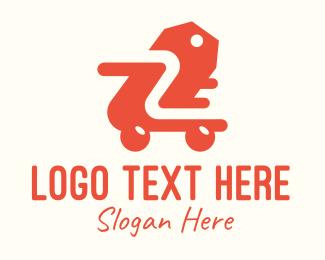 Purchase - Orange Shopping Cart logo design