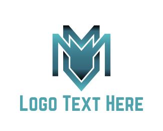 Bot - Industrial Letter M logo design