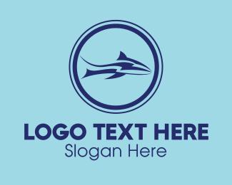 Blue Shark - Blue Thunder Shark logo design