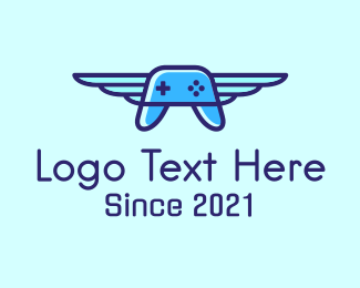 Twitch - Flying Game Controller logo design