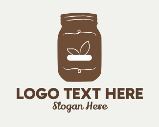 Spread - Brown Hipster Jar logo design