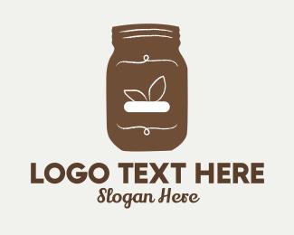 Jar - Brown Hipster Jar logo design