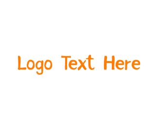 Orange And White - Orange & Handwritten logo design