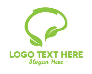 Think - Green Natural Thinking logo design