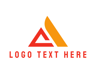 Letter A - Orange Letter A logo design
