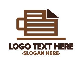 Mug - Coffee Mug Document logo design