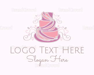 Bakeshop - Wedding Cake logo design