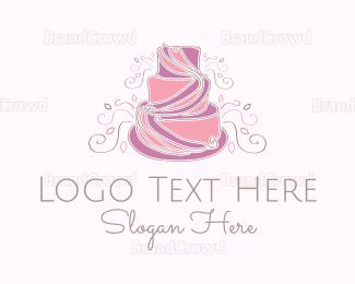 Dessert - Wedding Cake logo design