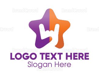 Celebrity - Cute Rock Star logo design