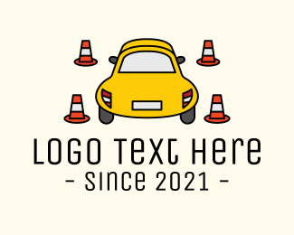 Crossing - Car Traffic Cone logo design