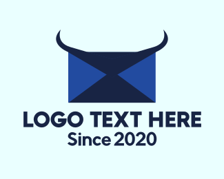 Post Office - Blue Horns Mail logo design
