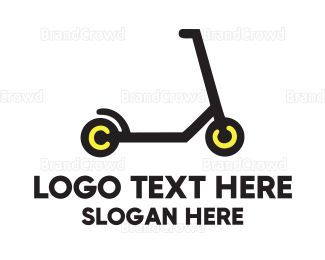 Black And Yellow - Black Scooter logo design