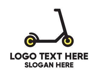 Scooter - Black Scooter logo design