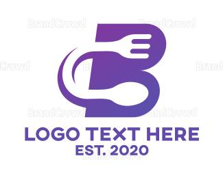 Fast Food - Violet Fast Food B logo design