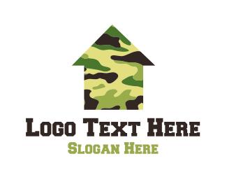 Camouflage - Military Housing logo design