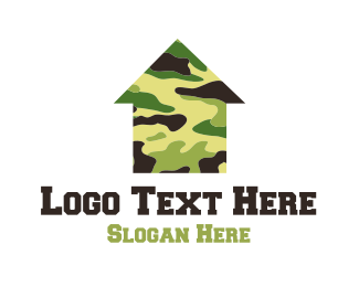 Army - Military House logo design