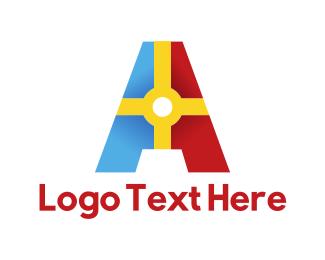 Letter A - Colorful Letter A logo design