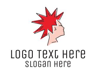 Trend - Spiky Mohawk Hairstyle logo design