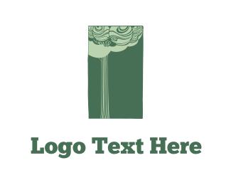 Tree & Rectangle  Logo