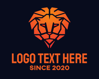 Management Consultant - Orange Lion logo design