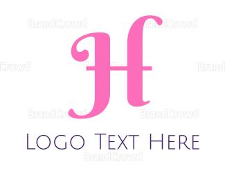 Cosmetic - Cursive Pink H logo design