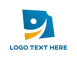 Smiling Character Logo